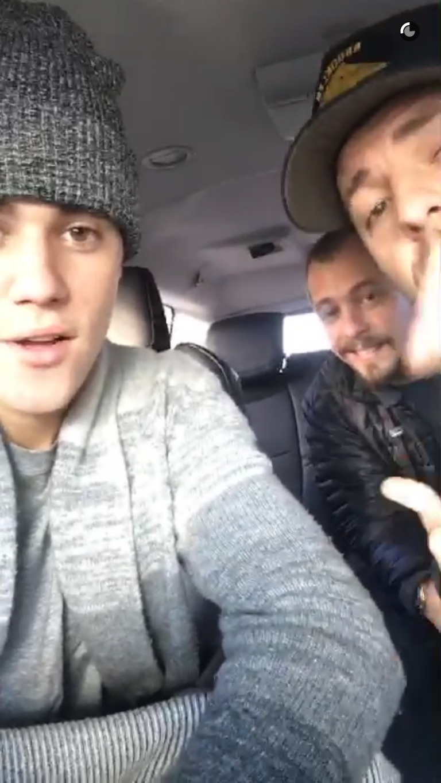 Justin Bieber Snapchat