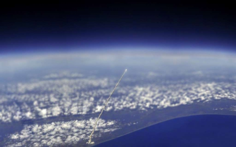 Space Shuttle Atlantis View From International Space Station