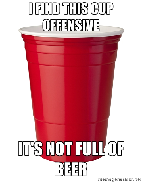 This red cup offends me!