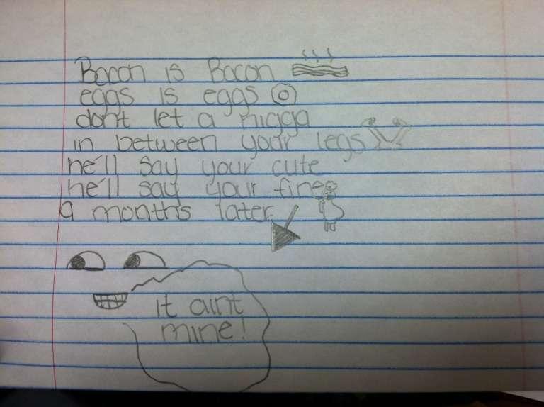 6th grader poem .. #lol