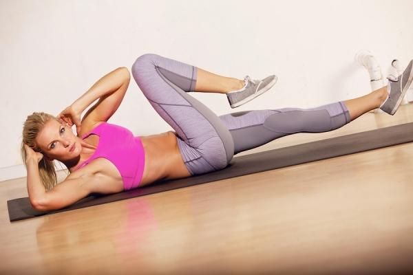 Abs Workout: Oblique Sit-up Crunch For Women