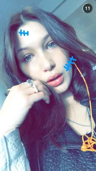 #Model: Bella Hadid Snapchat Username @Babybels777