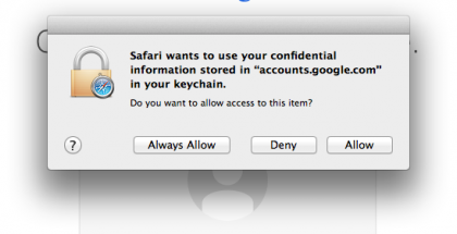 Mac OSX #Safari browser's annoying keychain credential popup!