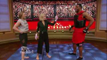 Watch Ronda Rousey Fight Michael Strahan!