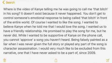 Taylor Swift posted on Instagram a response on Kim Kardashian's Snapchat post