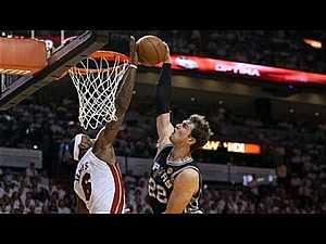LeBron James' INSANE block on Tiago Splitter in 2013 Finals Game 2! #NBA