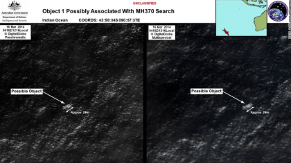 Possible debris from the missing Malaysia Airlines Jet #MH370