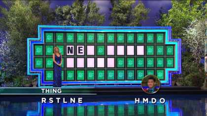 """#Lucky Wheel of Fortune contestant solves """"New Baby Buggy"""" with only 2 given letters"""