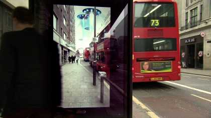 #Pepsi Max viral video tricks people in #London bus shelter of #UFO landing