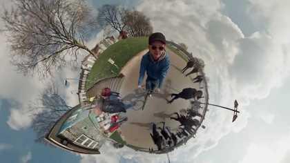 #Amazing spherical #panorama timelapse shot using 6 GoPro cameras