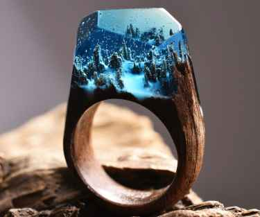 Handmade secret wood ring