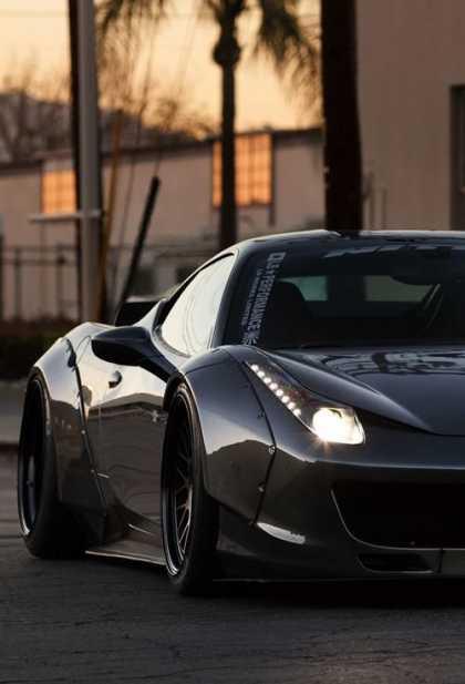 Black Ferrari 458 Italia