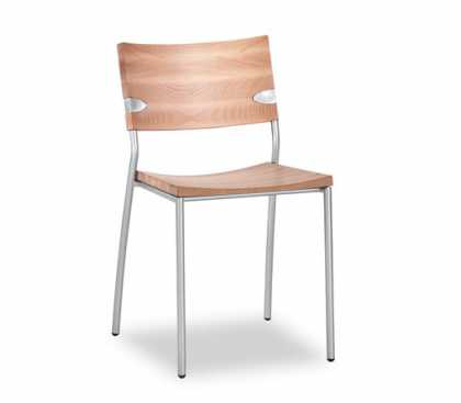 Sandler Seating: Simple Solid Beech Wood with Matt Chrome Frame #Chair