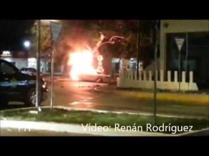 #Tesla Model S fire in Merida, Mexico