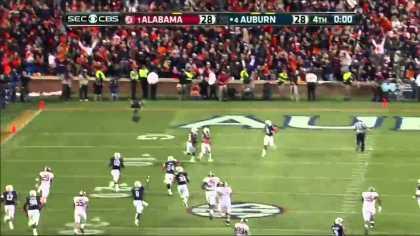 #Auburn defeats #Alabama for the #IronBowl after Chris Davis returns missed field goal for touchdown!