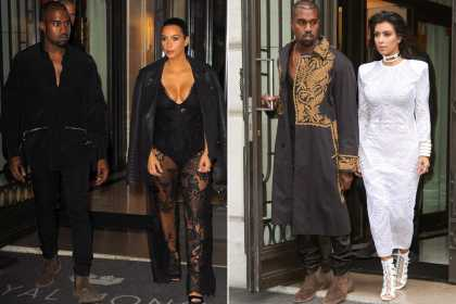 Paris Fashion Week: Check out Kim and Kanye's outrageous style...