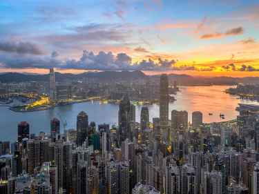 Beautiful Hong Kong Sunset