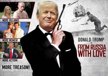 """Donald Trump in """"From Russia with Love"""""""