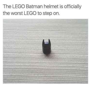 The #LEGO #batman helmet nightmare...