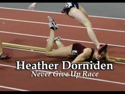 This is why you should never quit: Heather Dorniden takes a hard fall and still wins