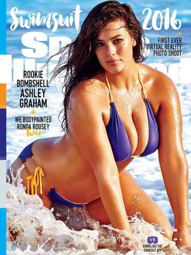 Ashley Graham is the first plus size model to be in the cover of Sports Illustrated