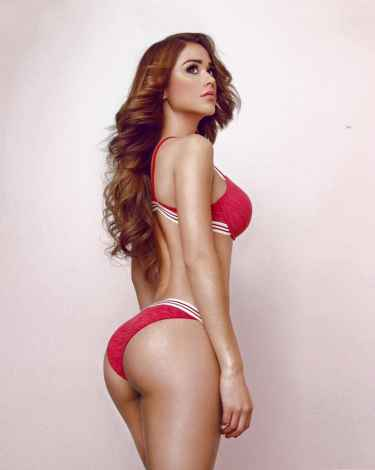 Model and Mexico's Weather Girl Yanet Garcia