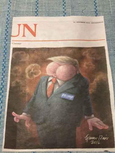 Donald Prump, featured in Icelandic newspaper