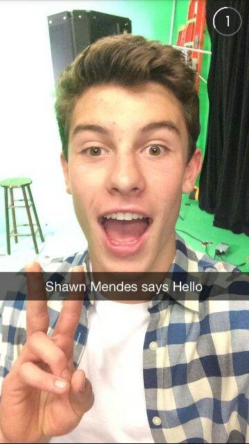 Shawn Mendes Snapchat @shawnmendes1