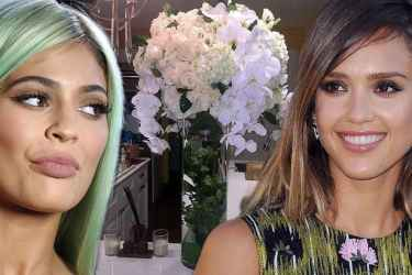 Kylie Jenner Sends Jessica Alba a Bouquet of Flowers to Make Amends