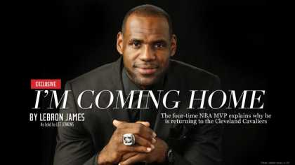 #NBA: #LeBron James announces return to Cleveland #Cavaliers