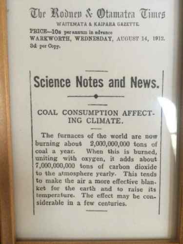 A 100 year old article on climate change