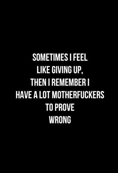 Remember why you are not giving up...