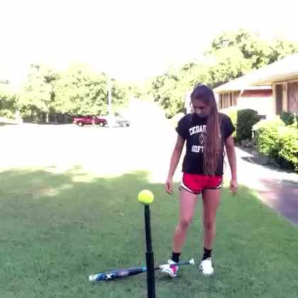Vine Girl Hits Baseball With Some Swag...