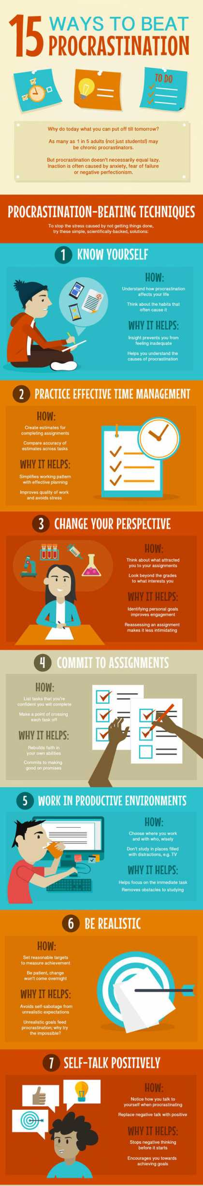 15 Ways To Beat #Procrastination
