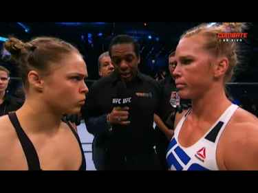 Watch as Ronda Rousey gets knocked out by Holly Holmes at UFC 193!