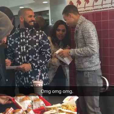 Drake, Stephen Curry and His Wife Spotted at In-n-Out Burger
