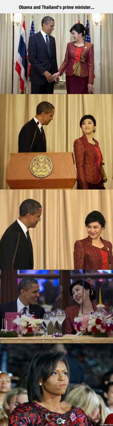 President Obama and Thailand's Prime Minister...