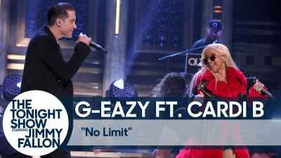 G-Eazy - No Limit ft. Cardi B live at The Tonight Show
