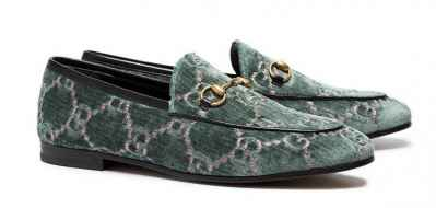 #Gucci introduces the very luxe 'Jordaan logo embroidered loafers'