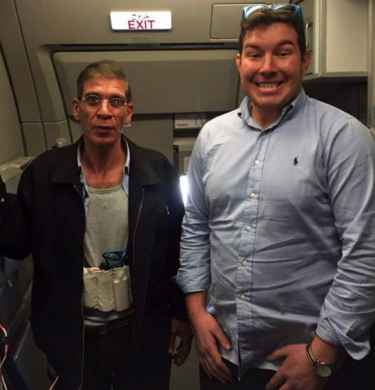 EgyptAir passenger Ben Innes took a selfie posing alongside Seif El Din Mustafa