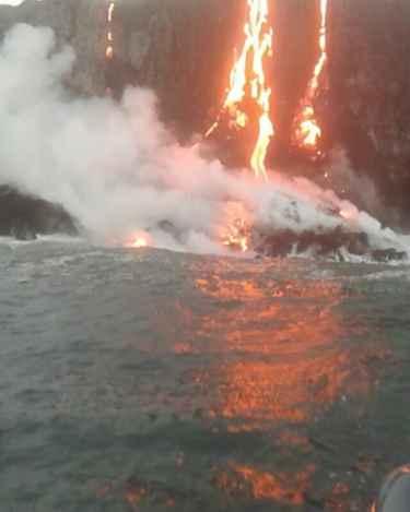 Lava from Hawaii's Kilauea Volcano reaches Pacific Ocean