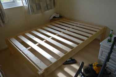 No screws or bolts wooden bed frame