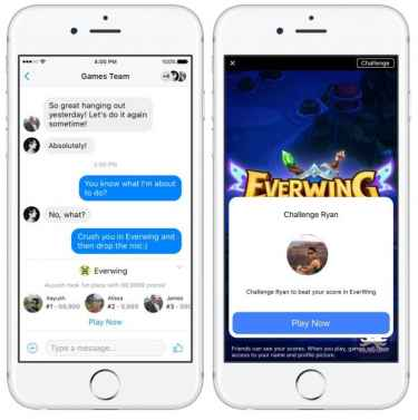 Facebook launches Instant Games on Messenger