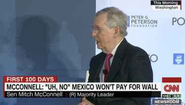 Mitch McConnell Just Confirmed Mexico Will 'Not' Pay For The Wall