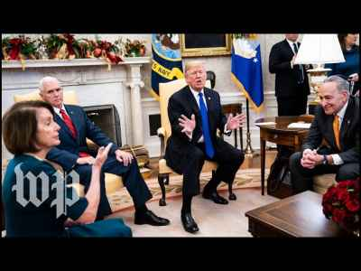Watch the full, on-camera shouting match between #Trump, #NancyPelosi and #ChuckSchumer