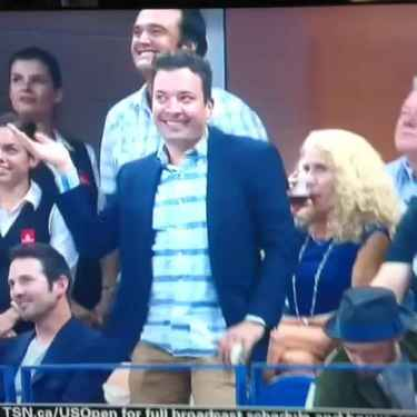 Jimmy Fallon and Justin Timberlake Dance 'Single Ladies' at the US Open