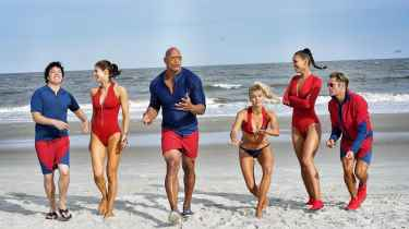 The Rock shared an exclusive look of the new Baywatch squad