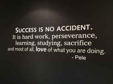 #Success is no accident. It is hard work, perseverance, learning, studying, sacrifice and most of all, love of what you are doing - #Pele