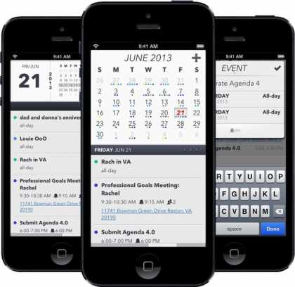 iOS Calendar App Agenda Hits Version 4.0 With New Design | #iPhoneApps #productivity