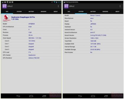 #Gadget: #Smartphone: Nexus 7 codename 'Razor' two full specs and benchmarks